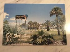 Vintage Siesta Key Florida Postcard Retro