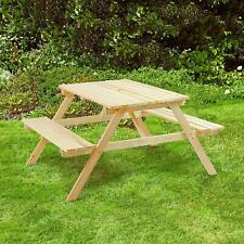4 SEATER WOODEN PUB STYLE BENCH PICNIC TABLE OUTDOOR FURNITURE GARDEN PATIO