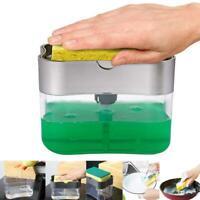 Convenient Sponge Sink Storage Box Home Kitchen Hand Press Soap Dish Brush Hot