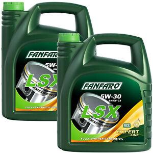 2x Motoröl 5W-30 5 Liter Longlife Motor Öl Fanfaro LSX BMW LL-04 VW 504.00 507