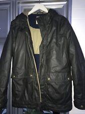 Originals By Jack & Jones Over Coat /Parker Dark Green Waxed Size L