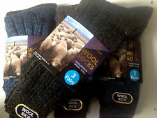 6 pairs mens Chunky wool  boot socks hiking THERMAL WARMTH winter work SE11