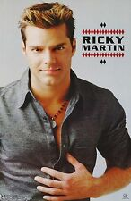 Ricky Martin Poster - Gray Shirt - Vintage NEW - 7550 - FREE SHIPPING