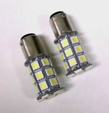 2 BBT 27 LED 1157 12 volt White Double Contact Hi/Low Bayonet Base Bulbs