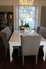 8,10,12, seater Ballerina/Stiletto Style Dining table,Any Colour, Extending leaf