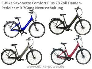 E-Bike Saxonette Comfort 3.0 28 Zoll Damen Pedelec 7Gang Nexus N-Schaltung
