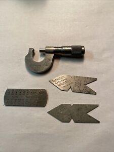 """Starrett No. 576  Micrometer 0-1/2"""" & Extra Starrett Tools / Lot 4"""
