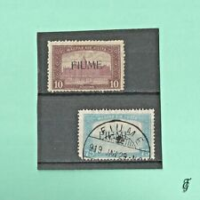 ~ ITALY FIUME  2 STAMPS / SIGNED  HIGH  CAT VALUE /.BEAUTIFUL CANCEL.