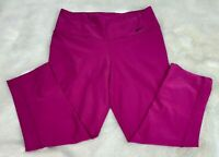 NIKE DRI-FIT Womens' Pink Cropped Athletic Pants Size Small