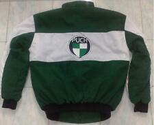 Nuevo Puch Oldtimer fan-chaqueta verde oscuro blanco Jacket Veste jas giacca Jakka