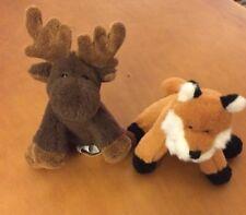 "Ganz Soft Spot Woodland Animals Fox And Moose 5"""