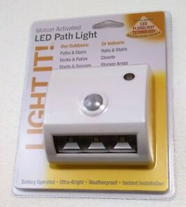 Motion Activated LED Path Light 20037-308 Fulcrum Products, 3 LED