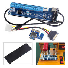 PCIE Express 1x To 16x Extender Riser Card Adapter 4Pin 15Pin Power Cable USB3.0