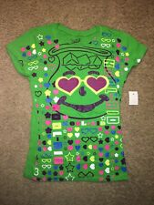 Girls' Kool-aid Green T-Shirt~Hearts Stars Flowers~Kool-aid Man ~Size 14/16 Slim