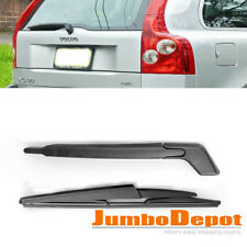 Black Rear Window Wiper Arm + Blade Set Replacement Fit Volvo XC-90 2003-2006