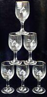 6 Vintage Retro Mid Century Barware Glass Sherry Liqueur Glasses Gold Trim 60ml