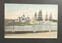 1909 1908 Fountain Queens Park New Westminster BC Canada Picture Postcard Cover