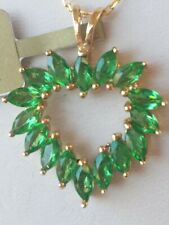 Emerald Marquise Cut Pendant 10KT Solid Yellow Gold
