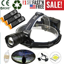 99000LM XHP70 XHP50 LED Headlamp Ultra Bright USB Rechargeable 18650 Headlight