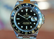ROLEX MASTER GMT II TWO TONE STEEL & YELLOW GOLD BLACK DIAL, 16713, Box & Papers
