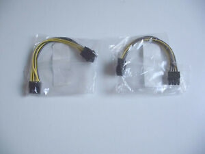 6 Pin to 8 Pin ATX12V PSU Adapter - Job Lot x 2 - Sealed