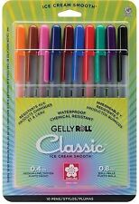 Sakura GELLY ROLL CLASSIC 10 Medium Pens 0.8mm ball 0.4mm Medium Line 37460 NEW!