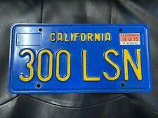 1975 California License Plate 300 LSN
