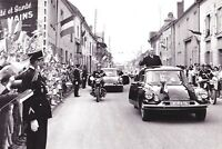 Charles de Gaulle-President of France-Returning from Ardennes in Car-1963 Photo
