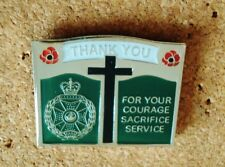 RARE ROYAL GREEN JACKETS thank you for your service tie tac