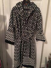 Missoni Hooded Long Bath Robe Black White New In Packaging Designer Bath Towel