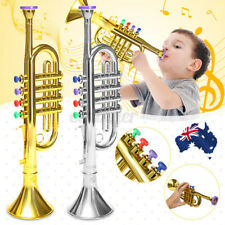 AU Mini Golden&Silver Horn Trumpet Musical Instrument Toy Educational Kid  ,