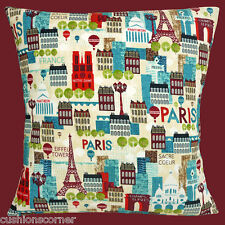 "NEW PARIS SACRE COEUR METRO CHAMPS-ELYSEES EIFFEL TOWER 16"" Pillow Cushion Cover"
