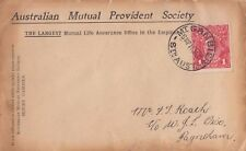 Stamp Australia 1d deep scarlet KGV G19 on cover dated 11 Jan 1917 Mt Gambier