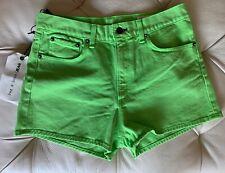 NWT Rag And Bone High Waisted Shorts Lime Green Size 28 High Waist High Rise