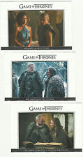 2016 Game of Thrones Season Five Relationships - 3 Card Lot * #'s 26, 28, & 29