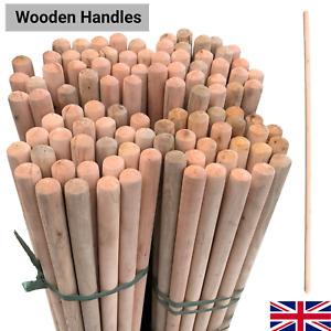 Long Wooden Broom Handle Mop Snow Shovel 4Ft 120cm Outdoor Yard Replacement