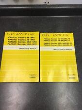 Used Fanuc B-62755EN/01 & B-62764EN/01 Maintenance & Operator's Manuals (QTY 2)