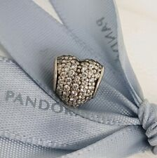 CLEARANCE Authentic Pandora White Clear CZ Pave Heart Charm