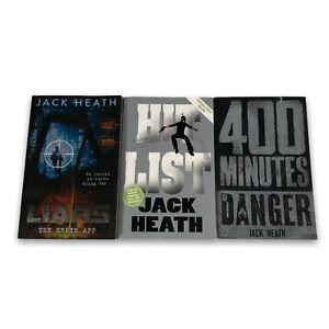 Liars, Hit List & 400 Mins - 3 Books - Jack Heath - Paperback