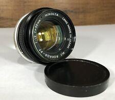 Minolta Rokkor-PF 55mm F1.9 Lens with Minolta MD/SRT Mount