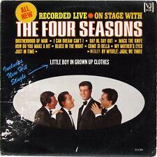 THE FOUR SEASONS FRANKIE VALLI ON STAGE WITH THE FOUR SEASONS 1965 LP MONO LIVE