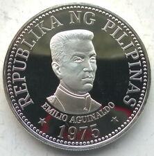 Philippines 1975 Emilio Aguinaldo 25 Pesos Silver Coin,Proof