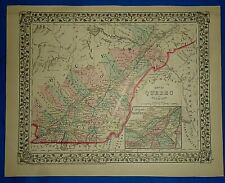 New ListingVintage 1878 Map Quebec Province - Montreal - Northern Maine Antique Original