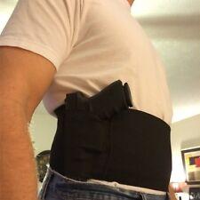 Verdeckte Trageweise Slim Belly Band Pistole Holster 2 Mag Taschen schwarz Taill