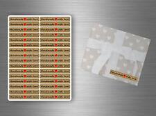 Lote 96 Pegatina scrapbooking MANUALIDADES hecho a mano with love embalaje R2
