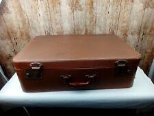 Vintage Crown Hard Body Suitcase Lovely Inside Ideal Wedding Prop Display ETC
