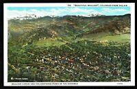 ⫸ 914 Postcard Boulder Canon & Arapahoe Peaks Distance CO Colorado - 1937 Posted