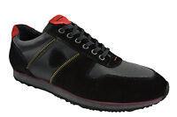 $230 OVATTO Black Red Suede Leather Casual Men Sneakers Shoes NEW COLLECTION