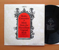 Morley Canzonets & Music From The Fitzwilliam Virginal Book - ORYX EXP 52 NM/EX