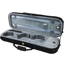 Classic 1/2 Violin Oblong Case. Black. Lightweight